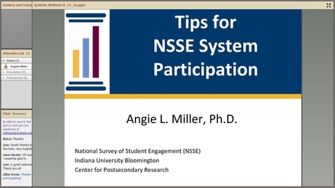 Thumbnail for entry Tips for NSSE System Participation