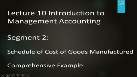 Thumbnail for entry A186 10-2 Introduction to Management Accounting