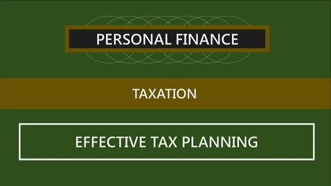 Thumbnail for entry F260 03-3 Effective Tax Planning