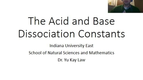 Thumbnail for entry The Acid and Base Dissociation Constants