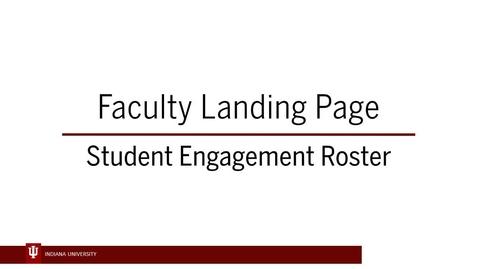 Thumbnail for entry SER 1 - Faculty Landing Page