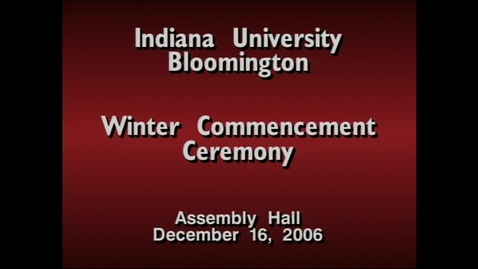 Thumbnail for entry 2006 Winter Commencement
