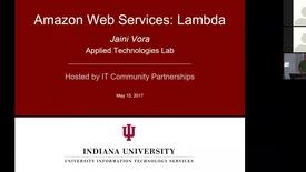 Thumbnail for entry Amazon Web Services Lambda 15 May 2017