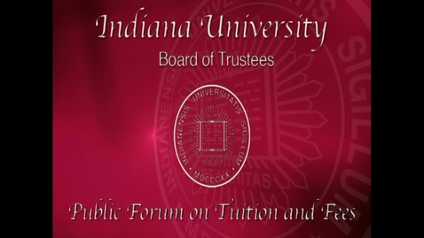 Thumbnail for entry 2011 Public Forum on Tuition/Fees