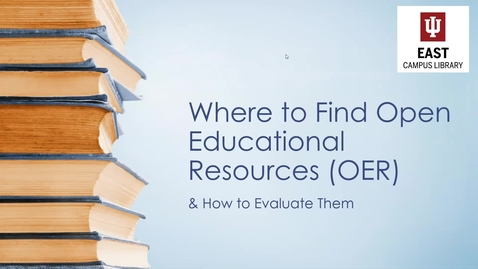 Thumbnail for entry Open Educational Resources (OER) Webinar 2
