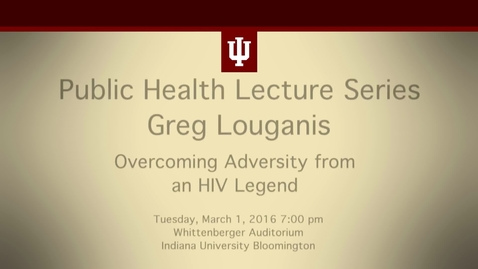 Thumbnail for entry Greg Louganis Lecture