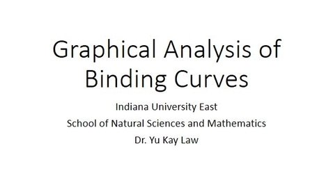 Thumbnail for entry Graphical Analysis of Binding Curves