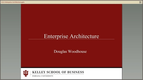 Thumbnail for entry dwoodhou MP4s_C522 Woodhouse II_C522 Summer 2013 Module 8 Enterprise Architecture