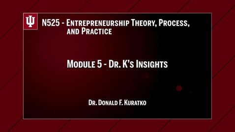 Thumbnail for entry Fall 2016 - Dr K N 525 insights m5