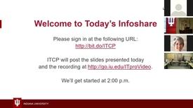Thumbnail for entry Infoshare:  IU Open Source Program