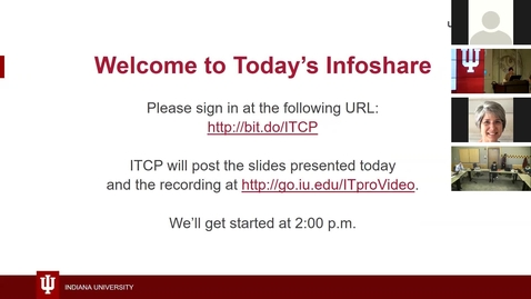 Thumbnail for entry Infoshare:  IU Open Source Program