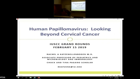 """Thumbnail for entry IUSCC Grand Rounds, Feb 15, 2019- Rachel Katzenellenbogen, MD """"Human Papillomavirus: Its Infections and Associated Cancers"""""""