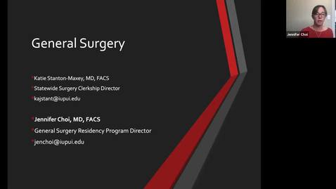 Thumbnail for entry Virtual Specialty Speed Round: General Surgery 08-06-20