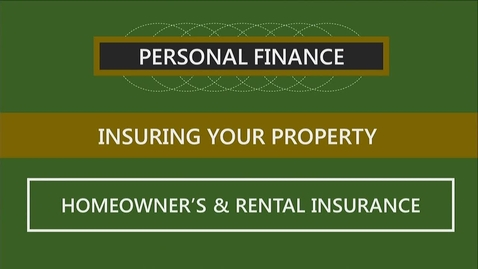 Thumbnail for entry F260 09-2 Homeowner's & Rental Insurance