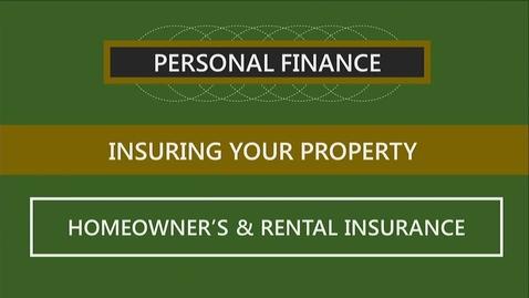 Thumbnail for entry F260 09-2 Homeowner's & Rental Insurance