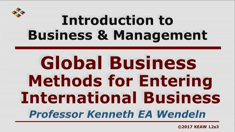 Thumbnail for entry W200 02-3 Methods for Entering International Business