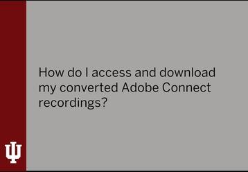Adobe Connect Recordings - Indiana University