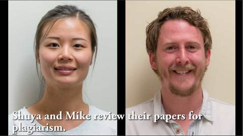 Thumbnail for entry Shuya and Mike read each other's papers to see if they committed any plagiarism.