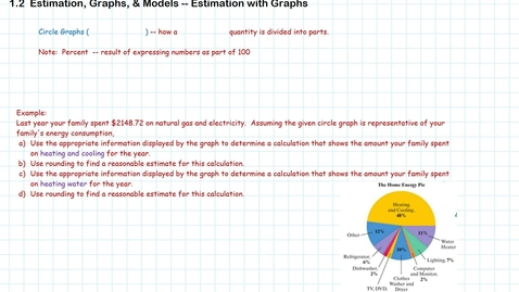 Thumbnail for entry Estimation with Graphs
