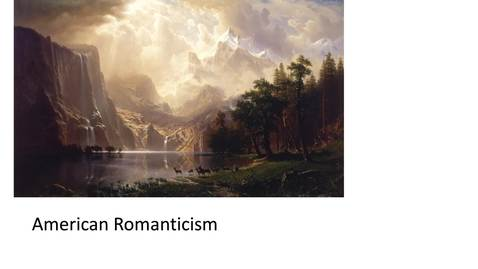 Thumbnail for entry American Romanticism Part One