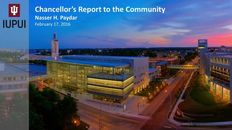 Thumbnail for entry 2016 IUPUI Report to the Community