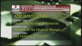 Thumbnail for entry F200_Lecture 01_Segment 1: Introduction to Financial Management