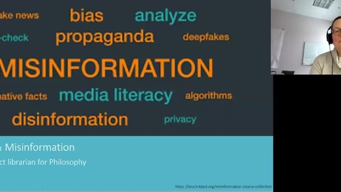 Thumbnail for entry Algorithms and Misinformation