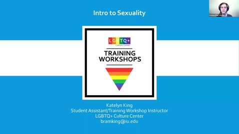 Thumbnail for entry TRAINING WORKSHOP : Intro to Sexuality 4/13/21