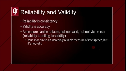 Thumbnail for entry M00V05-Reliability & Validity
