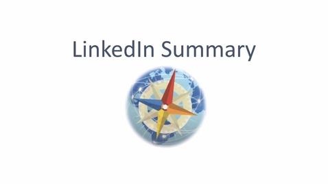 Thumbnail for entry LinkedIn SUMMARY