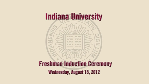 Thumbnail for entry 2012 Freshman Induction Ceremony