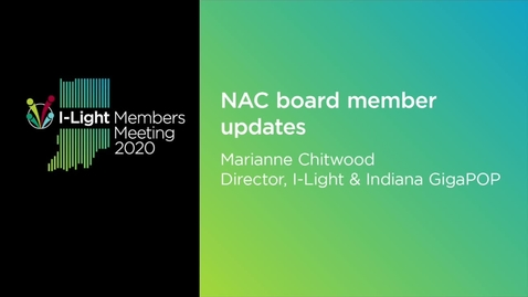 Thumbnail for entry NAC board member update:  Marianne Chitwood