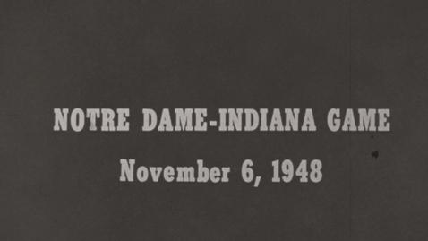 Thumbnail for entry 1948-11-06 vs Notre Dame - Pregame [Silent]