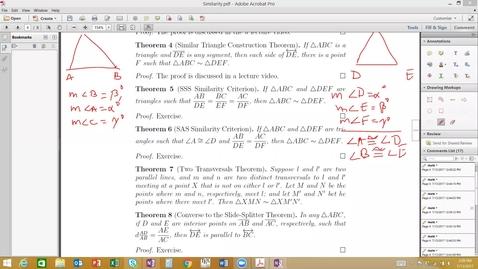Thumbnail for entry Similarity- SSS & SAS Similarity Criteria