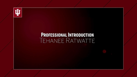 Thumbnail for entry Tehanee Ratwatte - Professional Introduction