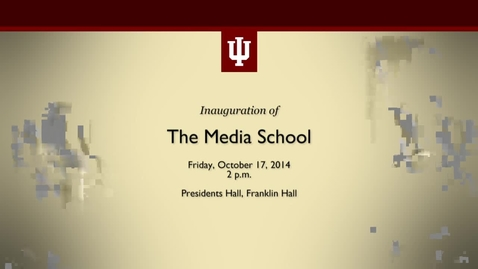 Thumbnail for entry Inauguration of the IU Media School and dedication of Ernie Pyle sculpture