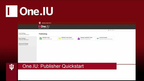 Thumbnail for entry One.IU PUBLISHER Quickstart
