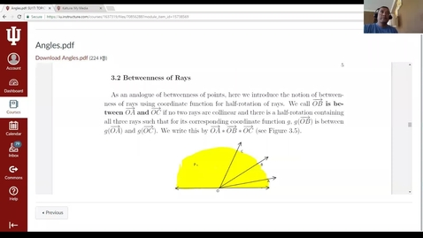 Thumbnail for entry Angles- Symmetry and Betweenness Theorem for Rays