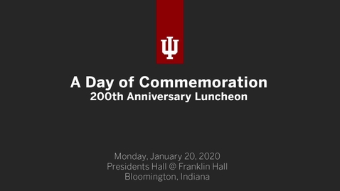 Thumbnail for entry A Day of Commemoration - 200th Anniversary Luncheon