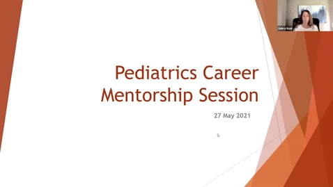 Thumbnail for entry PEDS Career Mentoring Session 05/27/21