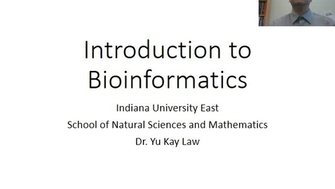 Thumbnail for entry Introduction to Bioinformatics