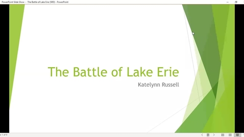 Thumbnail for entry Katie Russell Battle Of Lake Erie Poster video