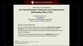 Thumbnail for entry IN NB 5/3/2017: Treatments of Depression, Bipolar & Anxiety Disorders; Antipsychotics; Anxiety