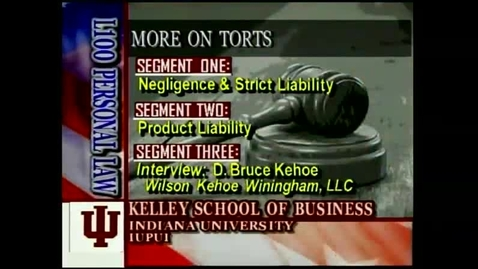 Thumbnail for entry L100 07-1 Negligence & Strict Liability