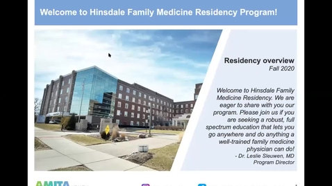 Thumbnail for entry FM SIG Residency Panel: 08/26/20, Hinsdale Family Medicine Residency