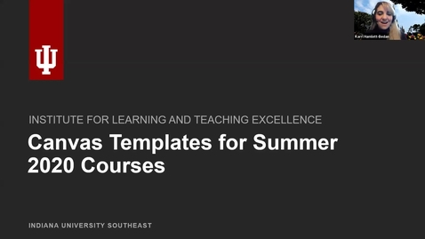 Thumbnail for entry Canvas Templates for Summer 2020 Courses