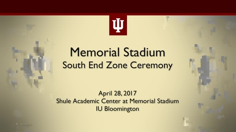 Thumbnail for entry IU Athletics Excellence Academy Groundbreaking Ceremony