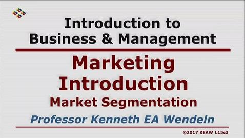 Thumbnail for entry X100 15-3 Market Segmentation