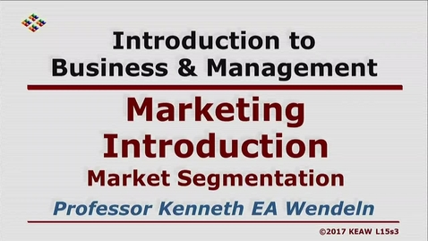Thumbnail for entry X100 15-3 Market Segmentation