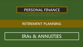 Thumbnail for entry F152 14-3 IRAs and Annuities